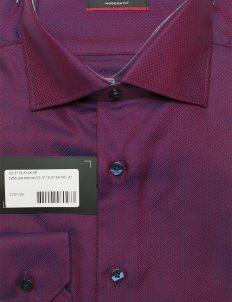 Modern Fit рубашка бордо с длинным рукавом 100% хлопок