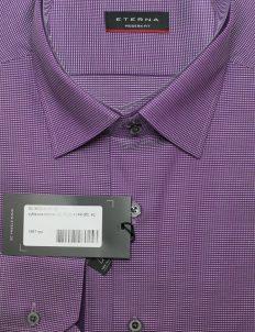 Фиолетовая рубашка с длинным рукавом на пуговицах 100% хлопок