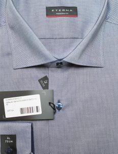 Мужская серая рубашка хлопок с длинным рукавом 100% хлопок