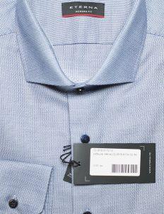 Рубашка голубая Modern Fit с длинным рукавом 100% хлопок