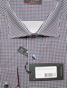 Красная класическая рубашка с принтом 100% хлопок