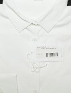 Кристально белая блузка с черными вставками 75% хлопок