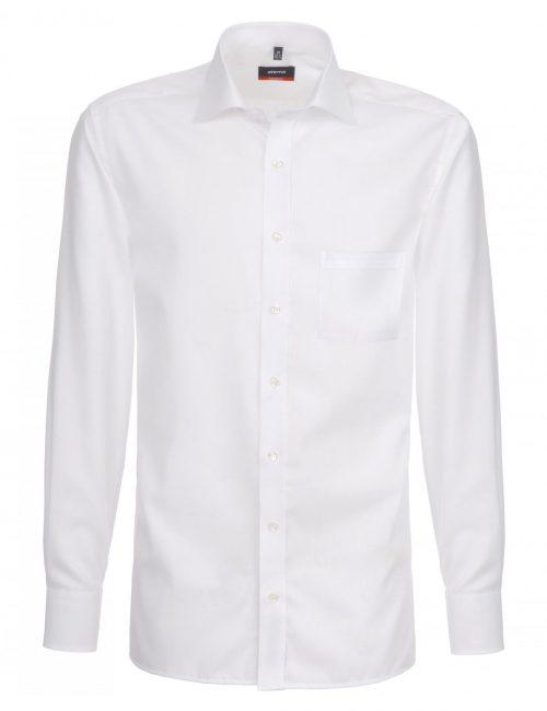 Мужская рубашка прямая (Modern Fit) белая со стандартным рукавом