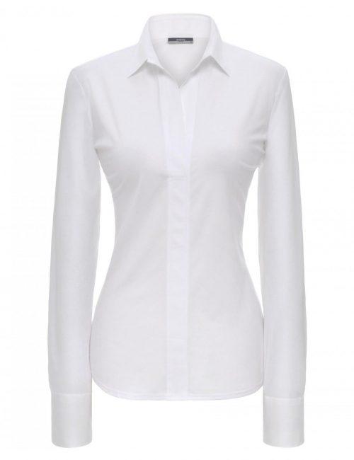 Женская блуза прямая (Modern Fit) белая со стандартным рукавом
