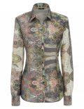 Женская блуза прямая (Modern Fit) с принтом со стандартным рукавом
