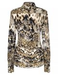 Женская блуза прямая (Modern Fit) с леопардовым принтом со стандартным рукавом