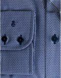 02-4510-S687-19 (4) Мужская рубашка прямая (Modern Fit) синяя с принтом со стандартным рукавом