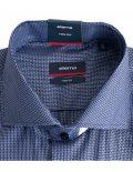 02-4510-S687-19 (3) Мужская рубашка прямая (Modern Fit) синяя с принтом со стандартным рукавом