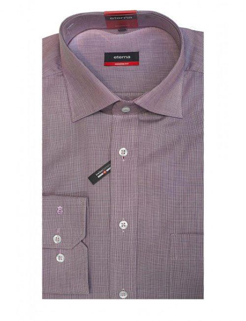 Мужская рубашка прямая (Modern Fit) сиреневая со стандартным рукавом