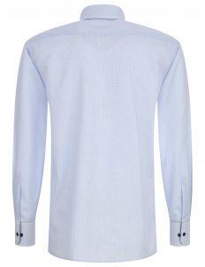 02-4669-X136-12 (3) Мужская рубашка прямая (Modern Fit) голубая в клетку со стандартным рукавом
