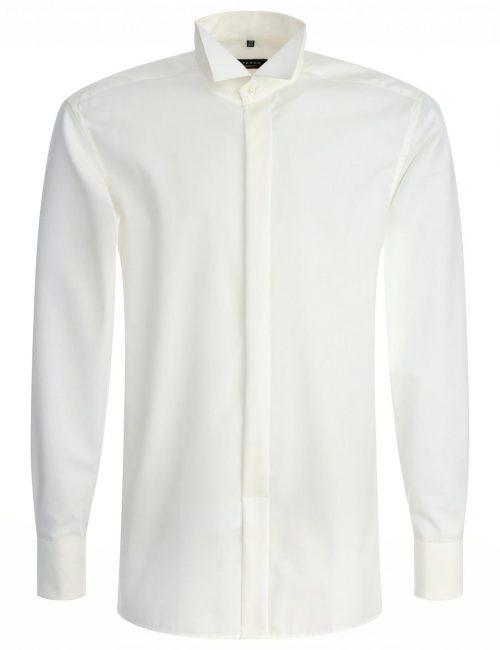 Мужская рубашка прямая (Modern Fit) молочная со стандартным рукавом