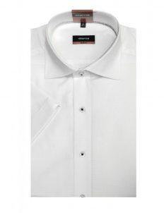 03-4699-g177-00 (2) Шведка приталенная (Slim Fit) белая с коротким рукавом