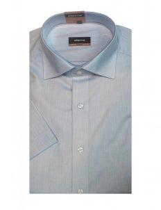 03-4290-G177-11 (2) Шведка приталенная (Slim Fit) голубая с коротким рукавом
