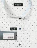 Белая рубашка с коротким рукавом с принтом 100% хлопок