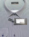 Рубашка приталенная в орнамент с длинным рукавом 100% хлопок