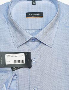 Мужская рубашка голубая с орнаментом 100% хлопок
