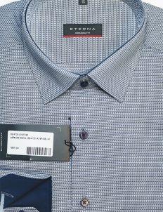 Рубашка 100% хлопок голубая с длинным  рукавом 100% хлопок