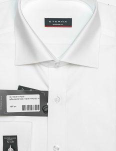 Белая мужская рубашка с длинным рукавом 72см 100% хлопок