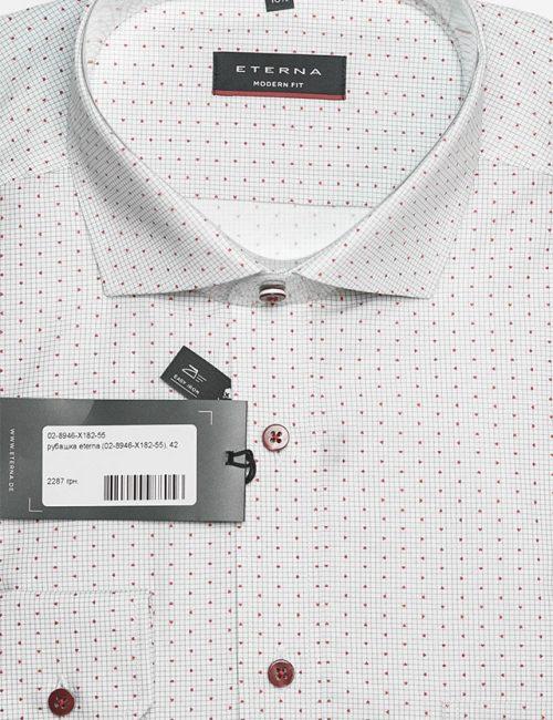 Рубашка Modern белая с принтом 100% хлопок