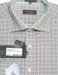 Рубашка серая в клетку 100% хлопок