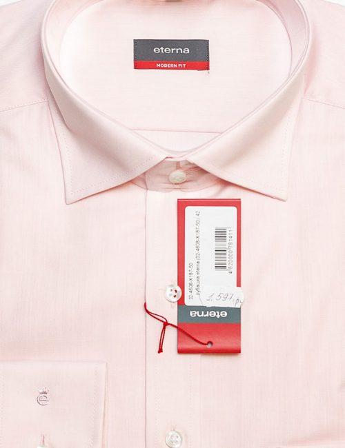 Мужская рубашка розовая со стандартным рукавом 100% хлопок