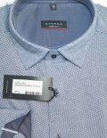 Рубашка Modern Fit в орнамент с длинным рукавом 100% хлопок