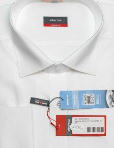 Мужская белая рубашка с длинным рукавом Modern Fit 100% хлопок