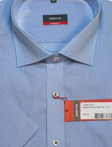 Мужская голубая шведка прямого кроя 100% хлопок