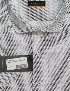 Рубашка мужская белая с коротким рукавом приталенная 100% хлопок