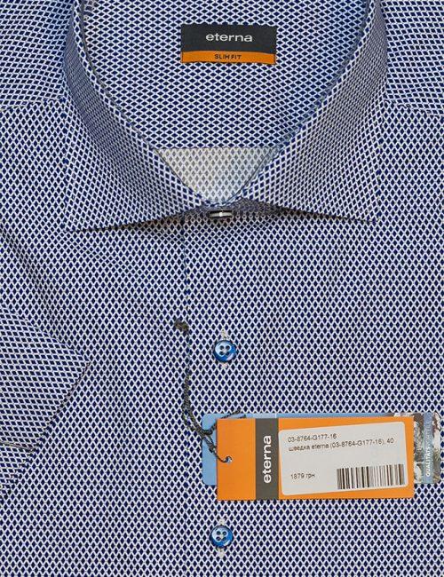 Рубашка с коротким рукавом с орнаментом 100% хлопок
