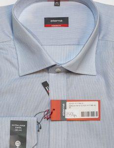 Голубая рубашка в полоску классическая 100% хлопок