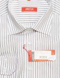 Белая мужская рубашка в полоску прямая 100% хлопок