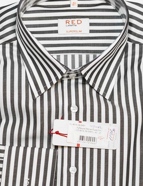 Рубашка в полоску классического кроя с длинным рукавом 100% хлопок
