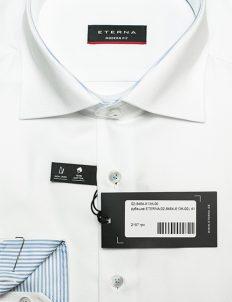 Белая рубашка прямая воротник кент 100% хлопок