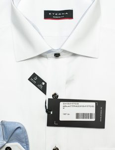 Белая мужская с длинным рукавом рубашка 100% хлопок