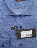 Modern Fit голубая рубашка с принтом длинный рукав 100% хлопок
