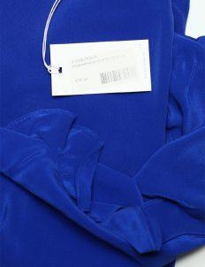 Блуза голубая женская с длинным рукавом 100% шелк