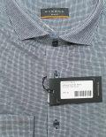 Серая мужская рубашка с длинным рукавом 100% хлопок